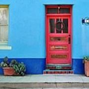 Barrio Door Pink Art Print