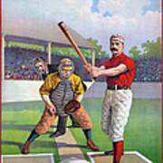 Baseball Game, C1895 Art Print