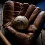 Baseball Glove Art Print by Bob Nardi