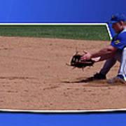 Baseball Hot Grounder Art Print