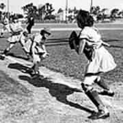 Baseball, Kenosha Comets Play Art Print by Everett