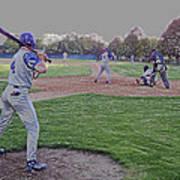 Baseball On Deck Digital Art Art Print