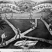 Baseball Polka, 1867 Art Print by Granger