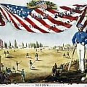 Baseball Song Sheet, 1860 Art Print
