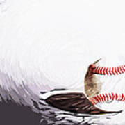 Baseball Art Print by Tilly Williams