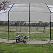 Baseball Warm Ups Digital Art Art Print