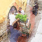 Basil Delivery In Eze France Art Print