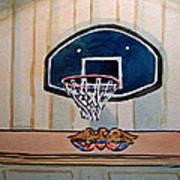 Basketball Hoop Sketchbook Project Down My Street Art Print by Irina Sztukowski
