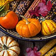 Basketful Of Autumn Art Print