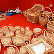 Basketwork Art Print