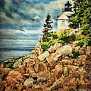 Bass Harbor - Acadia Np Art Print
