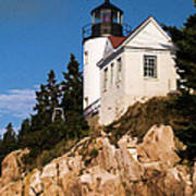 Bass Harbor Light Acadia National Park Maine Art Print