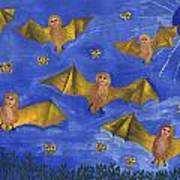 Bat People At The Pipistrelle Party Art Print