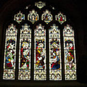 Bath Abbey Stained Glass Art Print