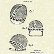Bathing Cap 1936 Patent Art Print by Prior Art Design
