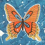 Batik Butterfly Art Print