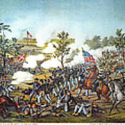 Battle Of Atlanta, 1864 Art Print