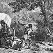 Battle Of Bloody Brook 1675 Art Print