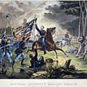 Battle Of Chantlly, 1862 Art Print