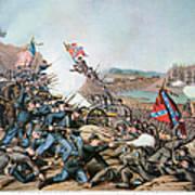 Battle Of Franklin, 1864 Art Print