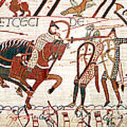 Battle Of Hastings Bayeux Tapestry Art Print