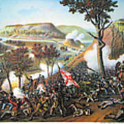 Battle Of Missionary Ridge Art Print