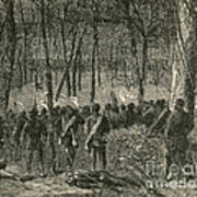 Battle Of The Wilderness, 1864 Print by Photo Researchers