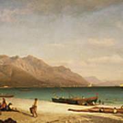 Bay Of Salerno Art Print