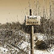 Beach Access Art Print