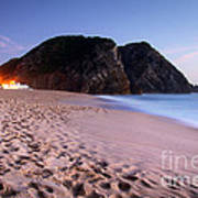 Beach At Evening Art Print by Carlos Caetano