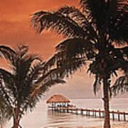Beach Belize Art Print