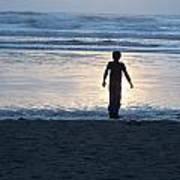 Beach Boy Silhouette Art Print