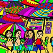 Beach Chat Art Print