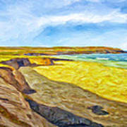 Beach Cliffs South Of San Onofre Art Print