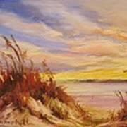 Beach Dunes at Dusk Art Print
