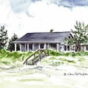 The Little House On East Beach Art Print