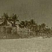 Beach Huts In A Tropical Paradise Art Print