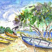 Beach In Ayia Napa Art Print