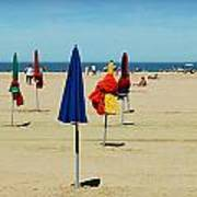 Beach In Deauville Art Print