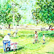 Beach Park  Art Print