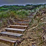 Beach Stairs Print by Joanne Kocwin