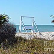 Beach Swing Art Print