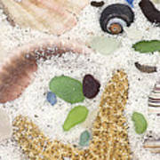 Beach Treasures Art Print