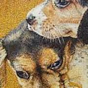 Beagle Puppies Art Print by Judy Skaltsounis