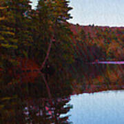 Bear Creek Lake In The Poconos Art Print