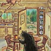 Bear In The Kitchen - Dream Series 7 Art Print