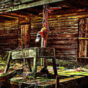 Beaten Down Barn Building Art Print