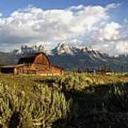 Beautiful Barn Grand Teton  Art Print