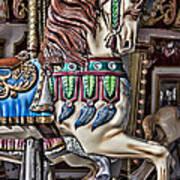 Beautiful Carousel Horse Art Print