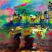 Beautiful Light In The Evening Of Pattaya Beach Art Print